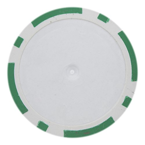 Brybelly 8 Stripe Poker Chip Heavyweight 14-gram Clay Composite - Pack of 50 (Green) - Poker Clay Poker Pro