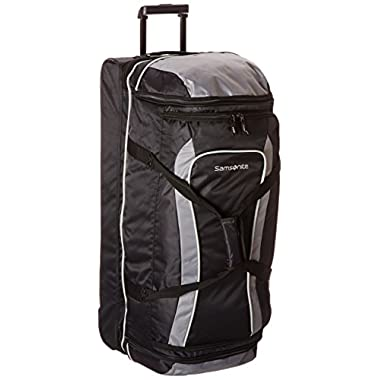 Samsonite Drop Bottom Wheeled Duffel 32, Black/Grey, One Size