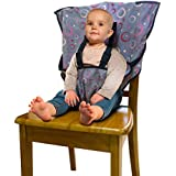 Portable Travel High Chair, Baby Feeding Booster Safety Seat Harness for Infants and Toddlers