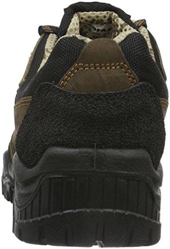 Cofra 31280-000 - S3 calzado de seguridad maribor-uno el trabajo, trabajo zapatos artesanía y construcción, tamaño 44, brown/black