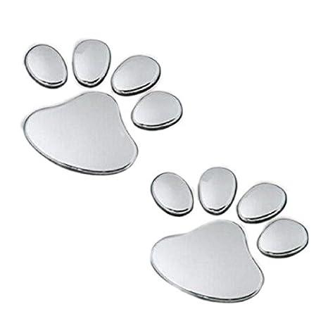 2Pcs Stylish Bear Paw Pet Animal Footprints Emblem Car Truck Decor 3D Stickers Decal Car Sticker: Amazon.es: Hogar
