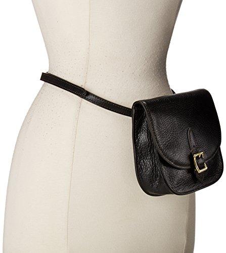 Fossil Women's Saddle Bag Belt, black, M
