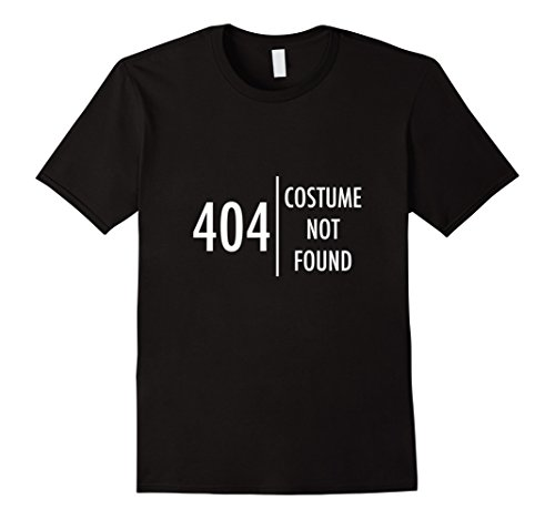 Mens Error 404 Costume not found Nerdy Halloween T-Shirt Funny Large Black - Cheap And Easy Halloween Costumes For College Students