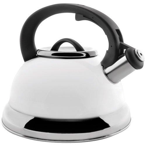 Lacor 68643- Bollitore con fischio, 2,5 l, colore bianco Lacor_68643