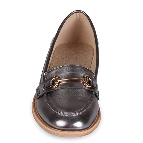 Pewter Toe Wanted Loafers Womens Shoes Cititime Closed WUYqYIzwr