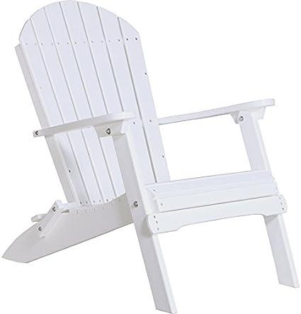 LuxCraft Recycled Plastic Folding Adirondack Chair