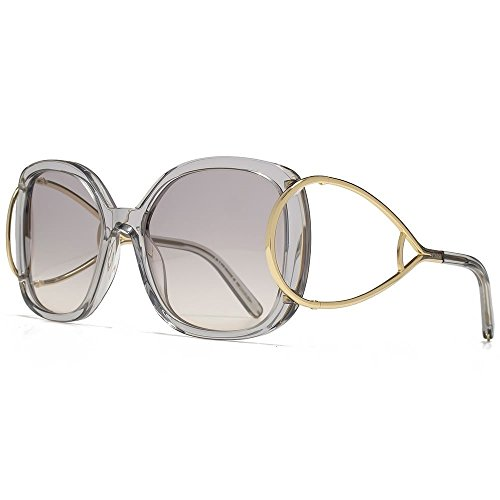 Chloe Sunglasses CE702S 038 Gold Grey/Light Grey - Chloe Sunglasses Mens