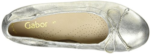 Nude One Flats Size Ballet Gabor Women's Metallic 60 Fashion qSpfTZ