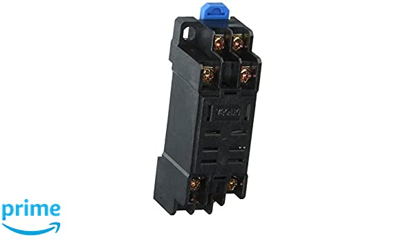 5 Pcs 35mm DIN Rail Mount DYF08A 8Pin Relay Socket Base for MY2-J uxcell a13100400ux0043