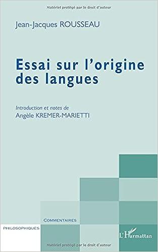Livre gratuits en ligne Essai sur l'origine des langues pdf, epub ebook