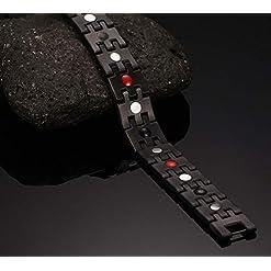 N3 ZELEK Magnetic Bracelet Men Stress Relief Strong Magnet BIO Therapy Bracelet Health Men Magnetic Bracelets for… Magnetic Field Therapy