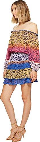 Nicole Miller Women's La Plage by Cleo Smock Waist Dress Multi Dress