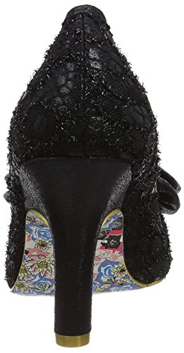 Black Escarpins Black Textured Mal Irregular Choice E Femme Bow Y0ISq