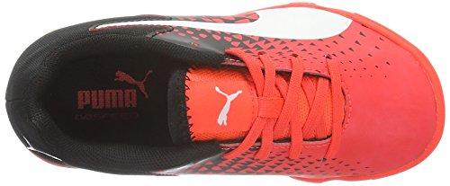 Puma Unisex-Kinder evoSPEED Sala Graphic Jr Fußballschuhe Rot (Red Blast/Bianco/Nero)