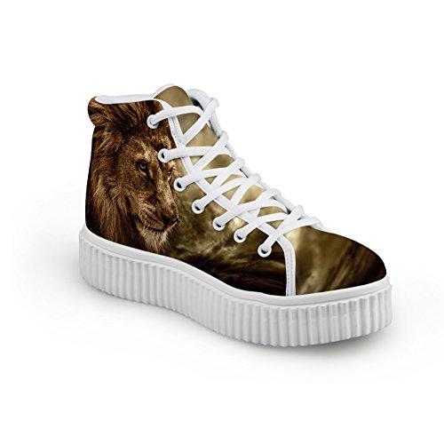 Knuffels Idee Schattig Dier Drukplatform Schoenen Mode Sneakers Leeuw