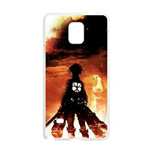 Generic hard plastic Attack On Titan Anime Cell Phone Case for Samsung Galaxy Note 4 White B0842
