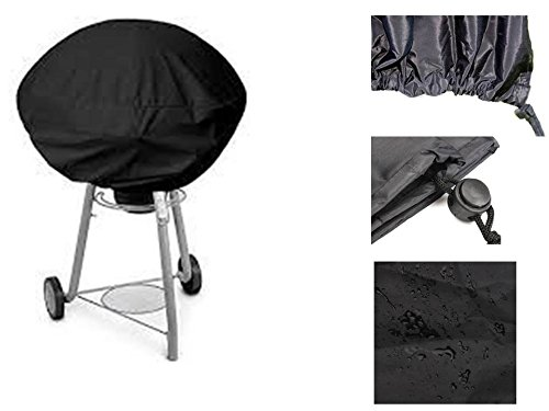 Starworld - Outdoor Lightweight and Easy fasten adjusting waterproof Round BBQ grill cover fit 14