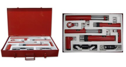 7 Pc Air Pneumatic Hydraulic Porta Power Ram Kit