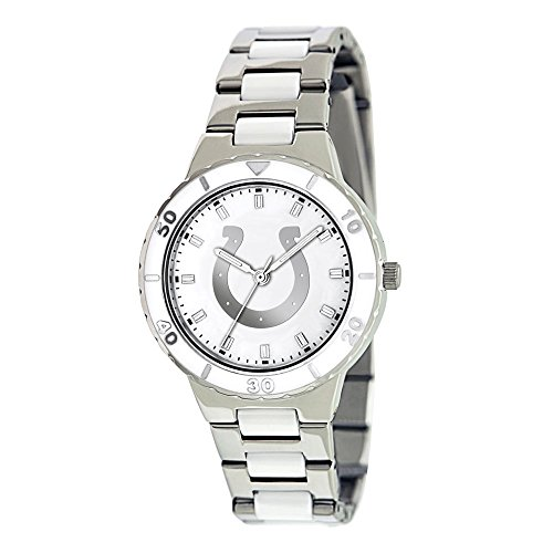 - Q Gold Gifts Licensed Gifts Ladies NFL Indianapolis Colts Mother of Pearl Watch