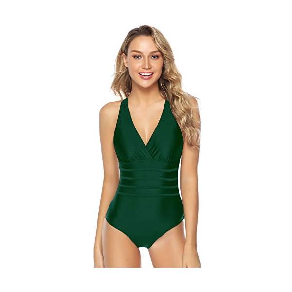 Aibrou Costume da Bagno Donna Sexy Interi Bikini Costumi da Mare Spiaggia Elegante Monokini S-XXXL
