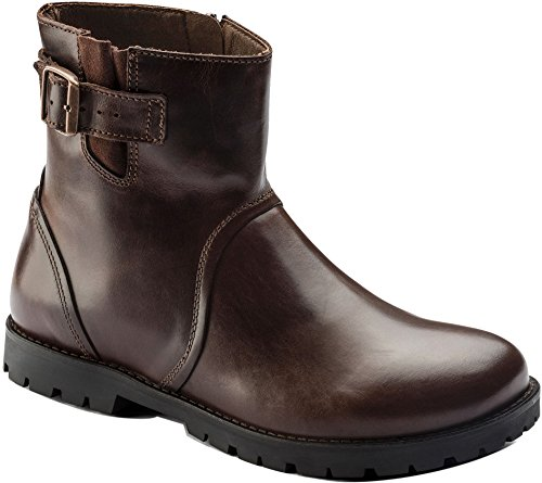 Birkenstock Women's Stowe Boot Espresso Leather Size 38 M EU