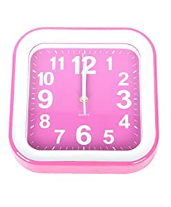 The Trendy Round Edge Wall Clock (Pink)