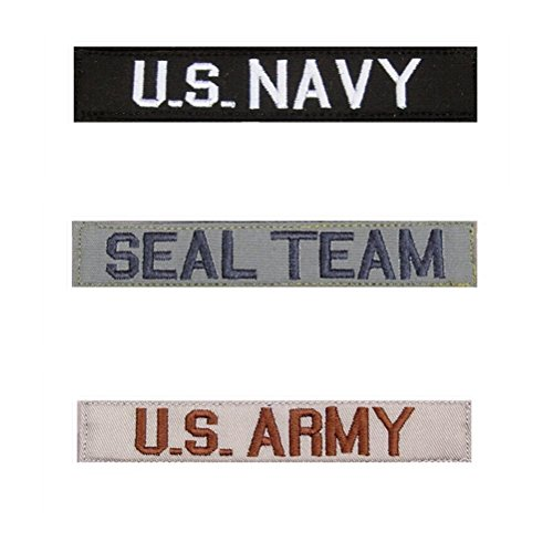 Custom Military/Tactical Name Tapes with Hook Fastener,Embroidered Iron/Sew On Name - Click Tracking Usps Ship And