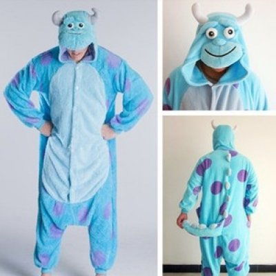 15d93d1ad83a Sully Monsters Inc Onsie Pyjamas Onesie Fancy Dress Costume Sleepsuit  Unisex Mans Womens (Medium 160-170cm)  Amazon.co.uk  Toys   Games