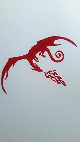 (Chase Grace Studio Dragon Dragons Lord Of Rings Inspired Vinyl Decal Sticker|RED|Cars Trucks Vans SUV Laptops Wall Art|5.5