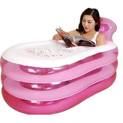 Tina de baño inflable adulta, tina de baño inflable plegable portátil del aire del PVC