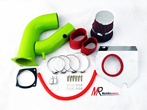 01 Injen Cold Air Intake (99 00 01 02 03 04 Ford Mustang 3.8L V6 Green Piping Cold Air Intake System Kit with Red Filter)