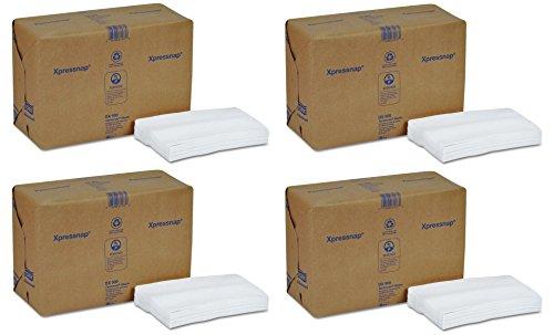 Tork DX900 Xpressnap Interfold Dispenser Napkins, 1-Ply, Bag-Pack, 13x8 1/2,White (4 Case of 6,000) by Tork