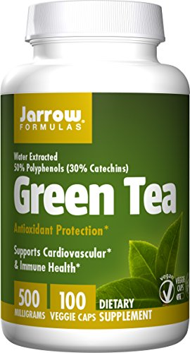 Jarrow Formulas Green Tea, Supports Cardiovascular & Immune Health, 500 mg, 100 Caps (Best Green Tea Extract Pills)