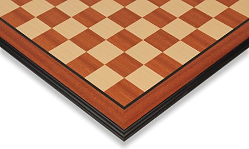Mahogany & Maple Chess Board with Molded Edge - 2.375