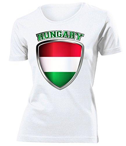 coppa del Mondo - Campionati Europei UNGARN mujer camiseta Tamaño S to XXL varios colores Blanco