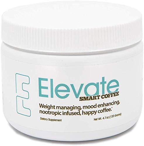 ELEVACITY Elevate Smart Coffee Tub 30 Servings Net wt 4.7 oz, 10 calories per serving ,130 mg Caffeine/per serving New Formula
