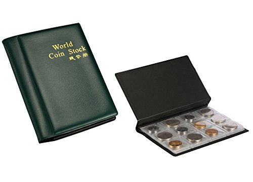 Fashionclubs 2pcs/set 120 Coin Collection Storage Album Book For Collectors,Money Penny Pocket,Random Color Dollar Nice Coin