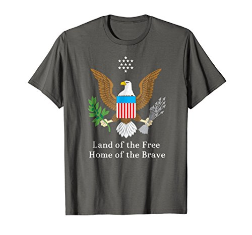 Great Seal United States T-Shirt Land Free Home Brave ()