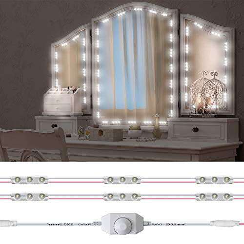 Led Vanity Mirror Lights Kit, Hollywood Style 60 LED Vanity Make Up Light, 10ft Dimmable Brightness Lighting Fixture…
