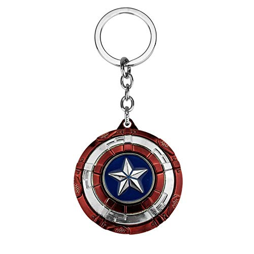 The Avengers Super Heroes Captain America Logo Style Metal Pendant Keychains Key Chain Ring Keyring Alloy Jewelry 1pcs