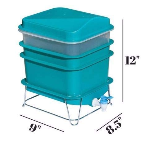 ray Worm Factory Farm Compost Small Compact Gardening Soil Bin Set ()