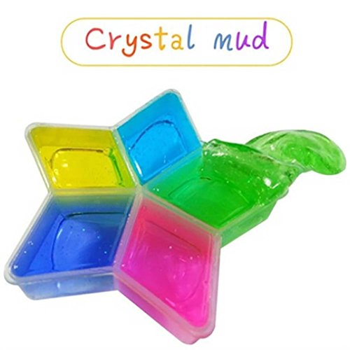 HongXander 5PCS Clay DIY Crystal Mud Play Transparent Magic Kid Toys