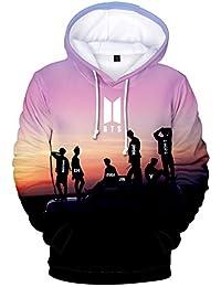 Pandolah BTS 3D Print Hoodie Bangtan Sweater for Army Kpop Pullover Love Yourself V Jungkook Jimin