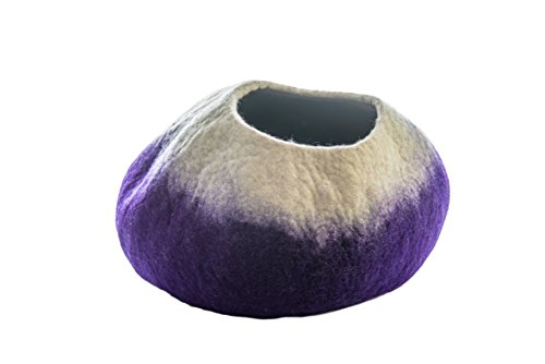 Eco Friendly Premium Felted Cat Cave Large – All-Natural 100 Merino Wool – Handmade Indoor Cat House – Soft, Comfortable Cat Bed – Ideal for Kittens Large Cats