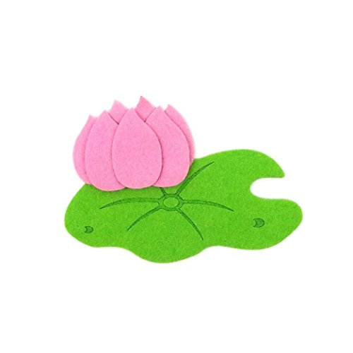 Loneflash Felt Cutting Lotus Shaped Felt Craft Non-Woven Fabric Appliques Wall Decal for Children Kids Room Decoration Stickers Wall Decal (Wall Sticker Appliques)
