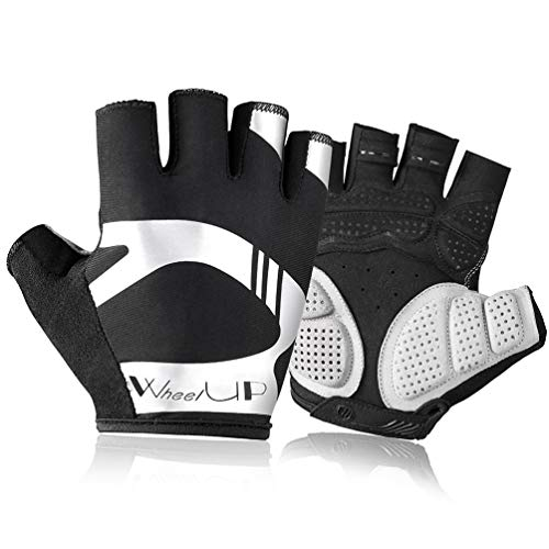 Cycling Gloves for Men and Women, Shockproof Half Finger Anti-Slip Mountain Bike Gloves for Sport Biking Hunting