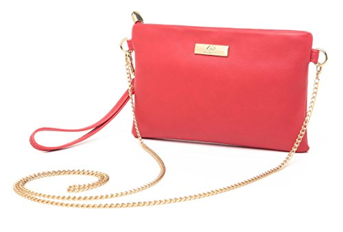 - Aitbags Soft PU Leather Wristlet Clutch Crossbody Bag with Chain Strap Cell Phone Purse