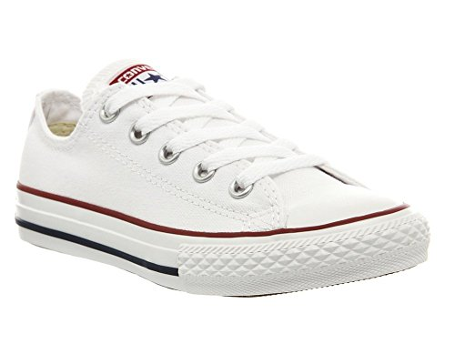 Converse Unisex Chuck Taylor AllStars Ox Skate/Lifestyle, White, 3 M US Little Kid (All Star Converse Kids)