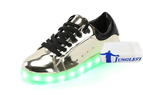 (Present:kleines Handtuch)JUNGLEST® 7 Farbe USB Aufladen LED Leuchtend Sport Schuhe Sportschuhe Sneaker Turnschuhe für Unisex-Erwa c4
