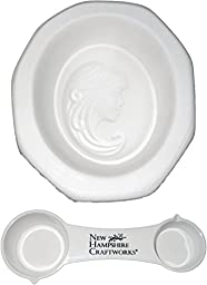 Detailed Cameo Mold Pendant and NHC Measuring Spoon Set - Fusible Glass Jewelry Mold